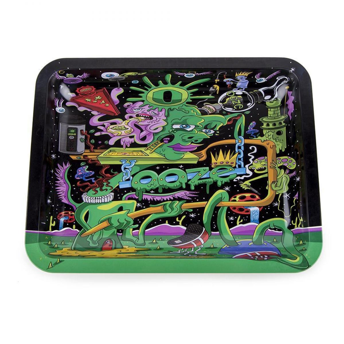 Ooze Rolling Tray - Black Factory - MEDIUM