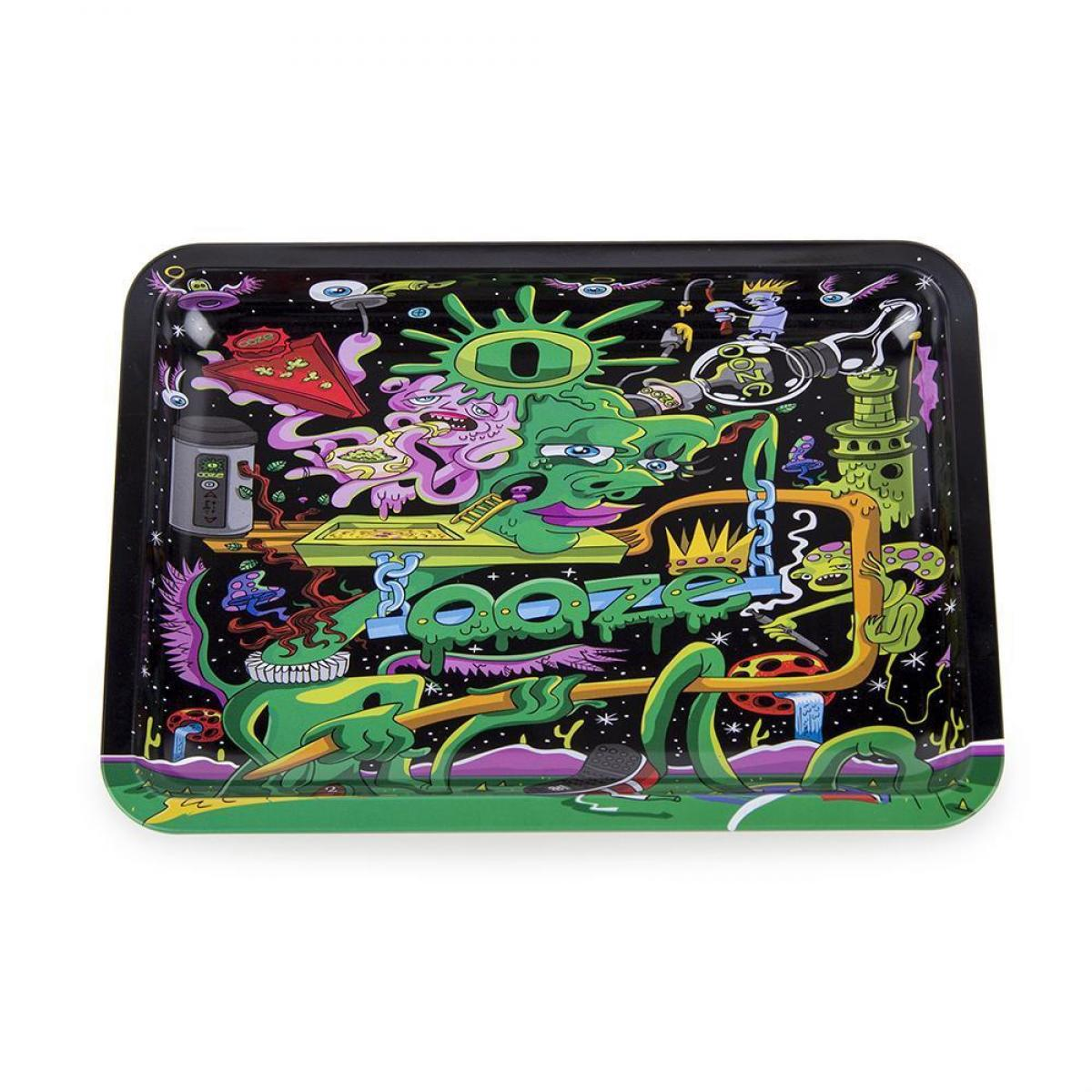 Ooze Rolling Tray - Black Factory - SMALL