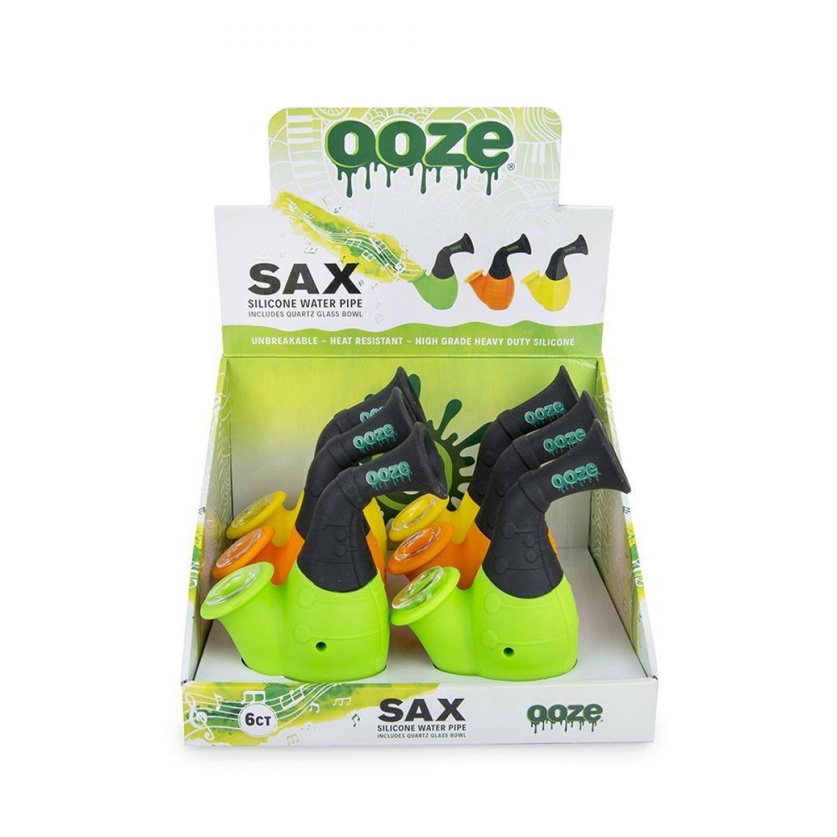 SAX Silicone Water Pipe + Quartz Bowl - 6ct