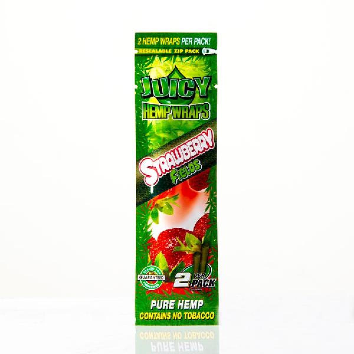 Juicy Jays Hemp Wraps - Strawberry (2pk)