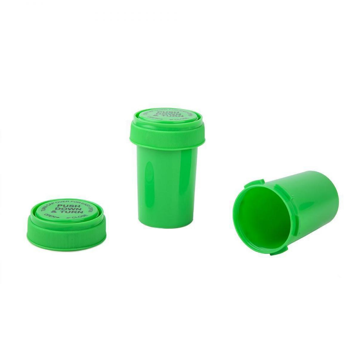Reversible Cap Plastic Container (3.5g) Green