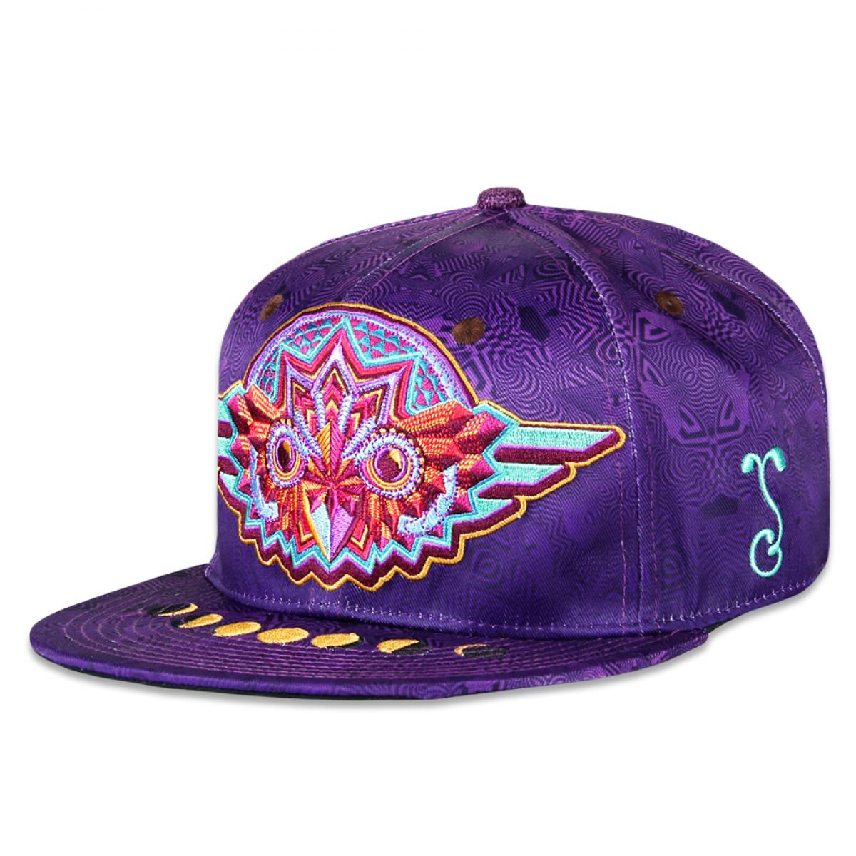 Night Owl Purple Fitted Hat - Grassroots