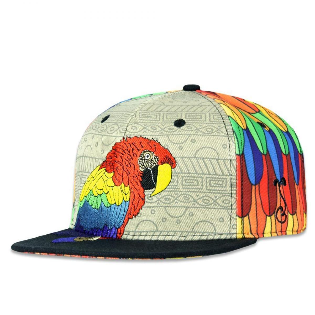 Macaw Rainbow Snapback Hat