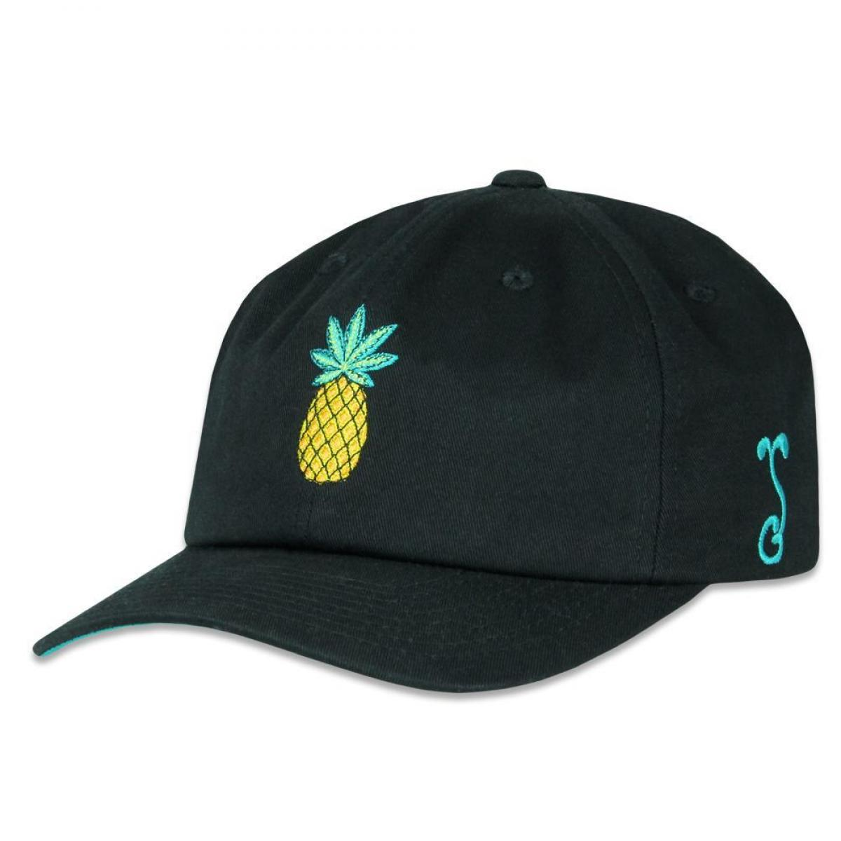 Black Ink Art Pineapple Dad Hat