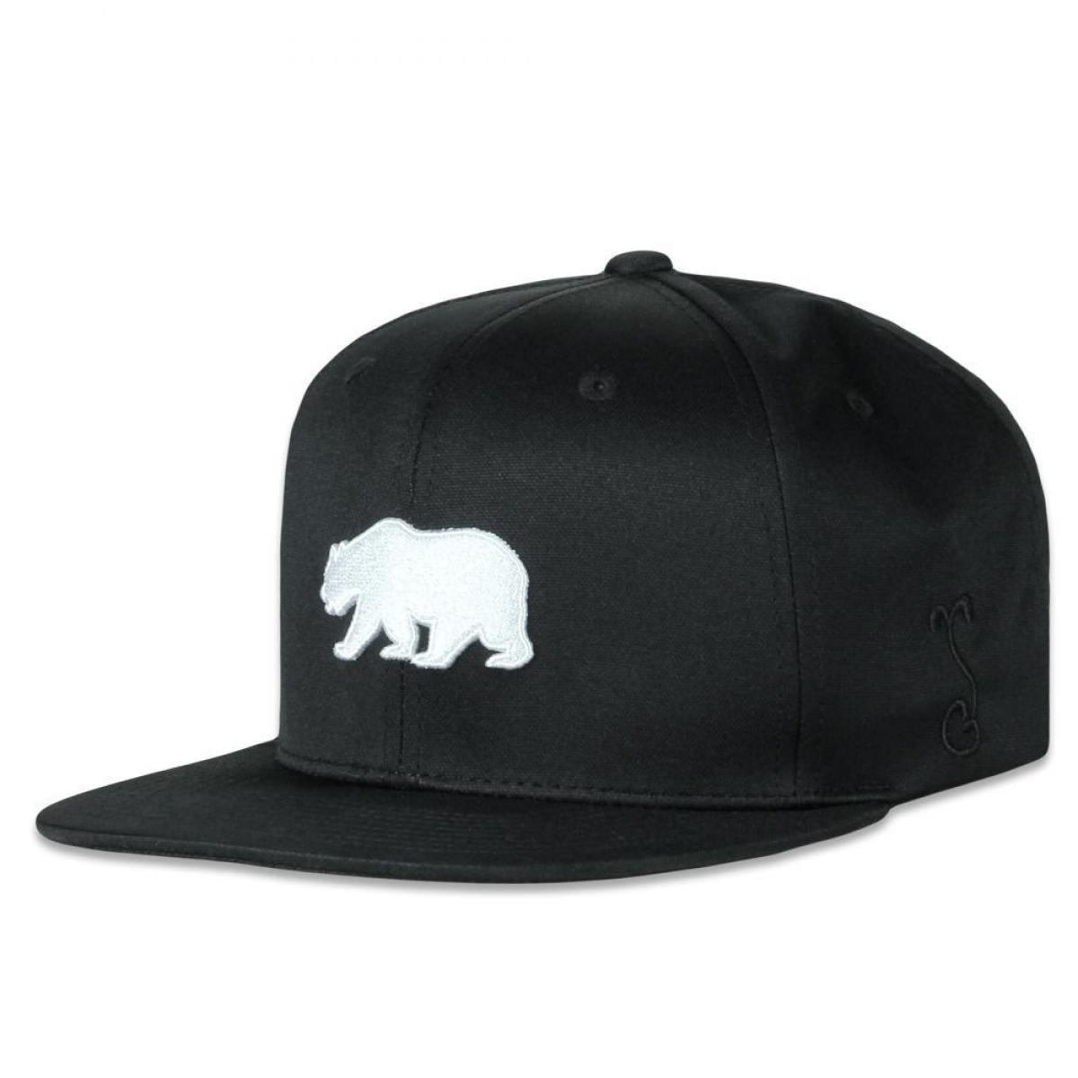 Dri-Bear Polar Black Pro Fit Snapback Hat