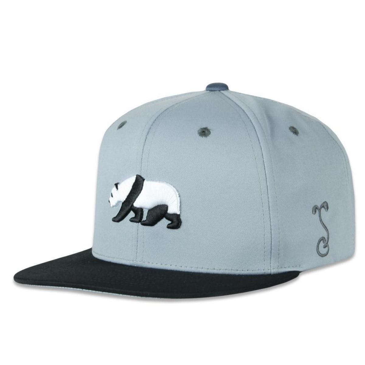 Dri-Bear Panda Gray Pro Fit Snapback Hat