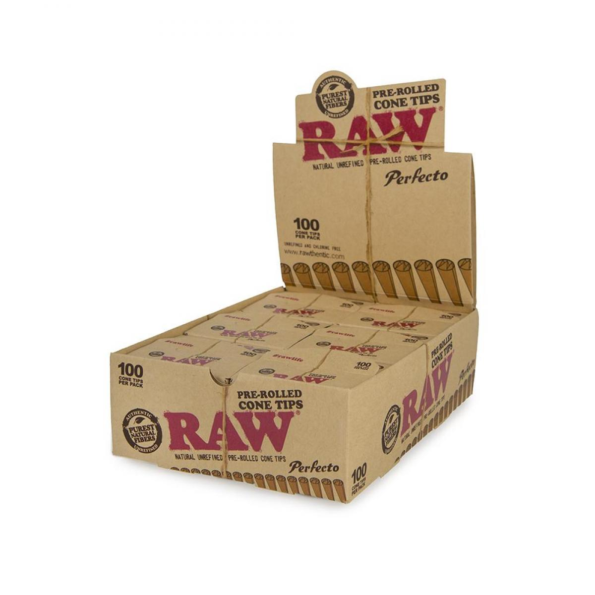 Raw Perfecto Pre-Rolled Cone Tips - 100ct