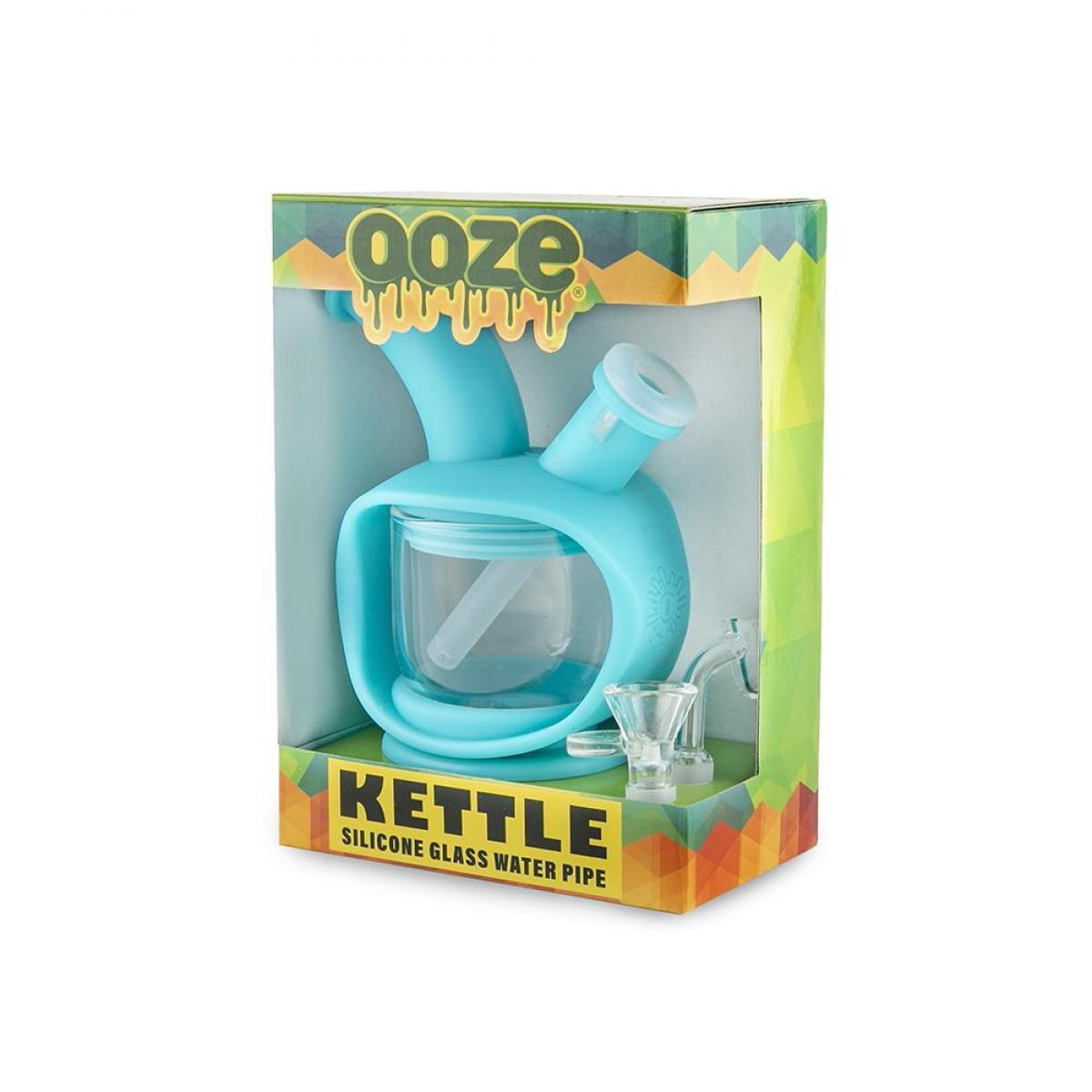 Ooze Kettle Silicone Bubbler Teal