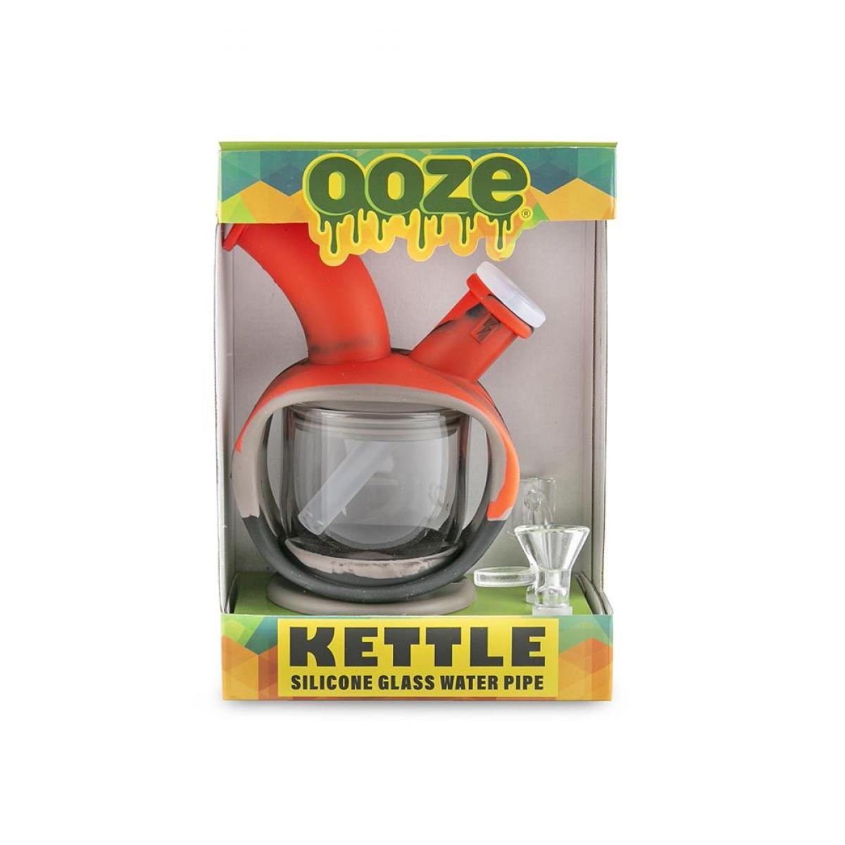 Ooze Kettle Silicone Bubbler Red/Black