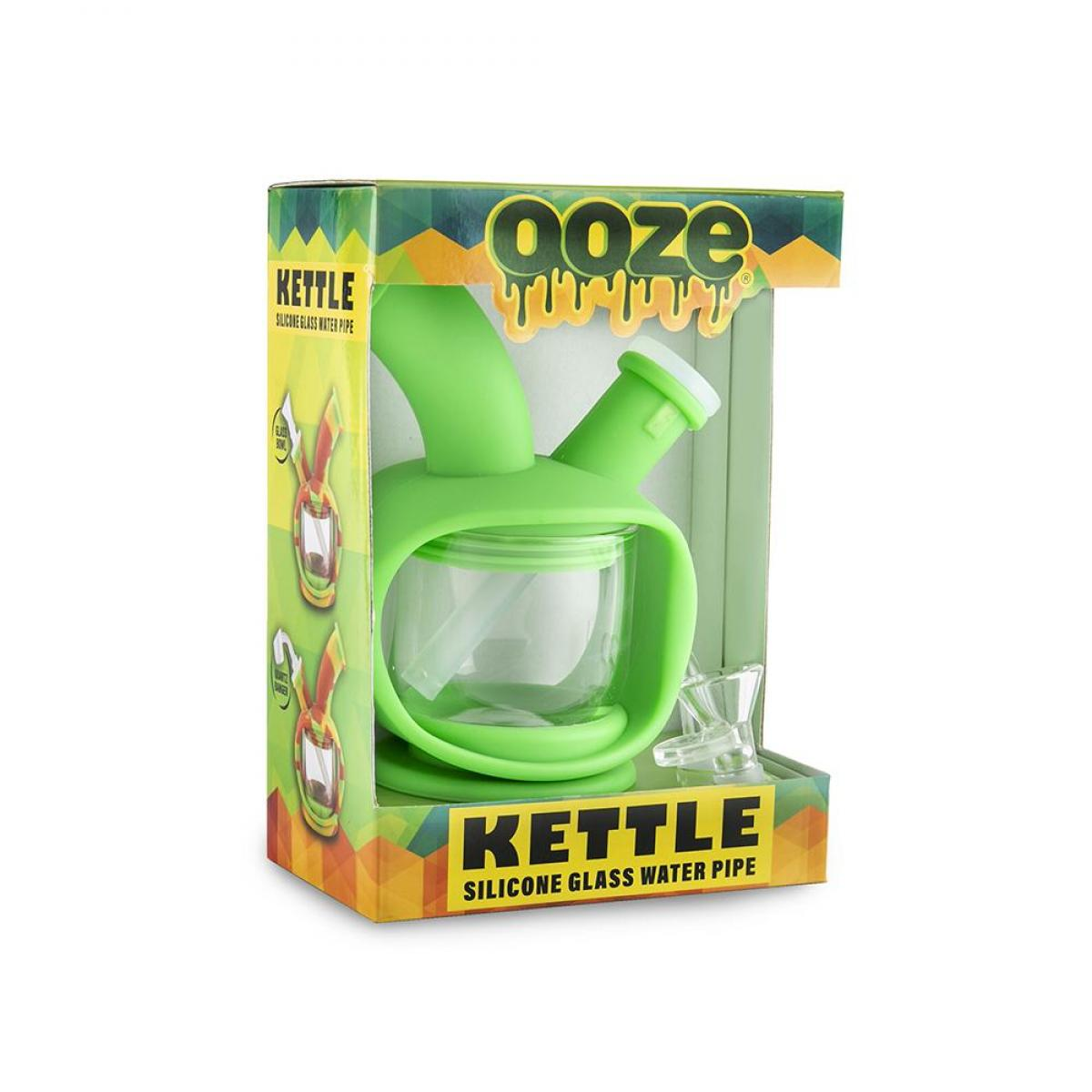 Ooze Kettle Silicone Bubbler Green