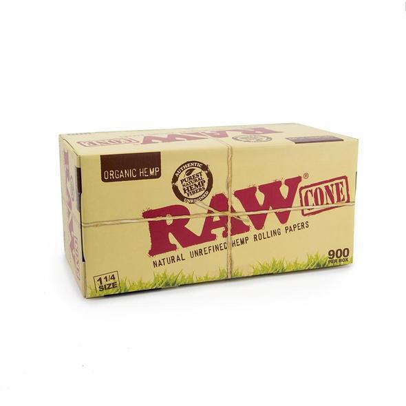 RAW ORGANIC HEMP 1-1/4in CONES BULK - 900CT