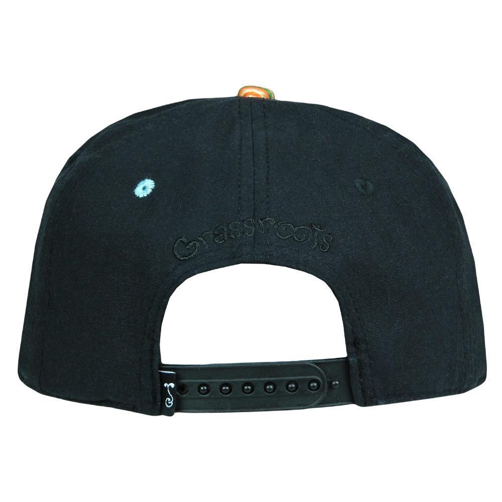 Skateboard Bear Nugs and Bolts Black Hemp Snapback Hat