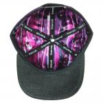 Removeable Panda Bear Purple Snapback